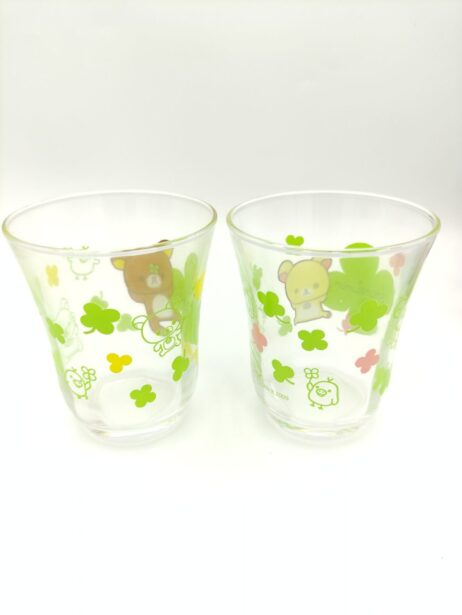 Rilakkuma 2 Glass San-X Kawaii 9cm* 7,5cm Japan kawai 2